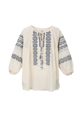Cotton Ethnic Embroidery Blouse [박선영 착용]