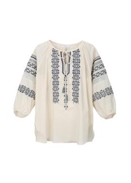 [10% 할인] Cotton Ethnic Embroidery Blouse [박선영 착용]