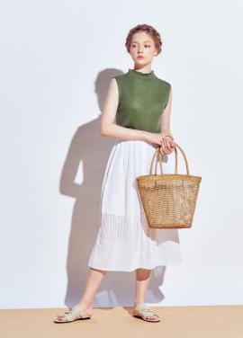 [URAGO]Pleated skirt skirt