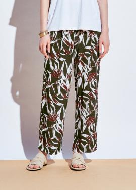 [URAGO]coloring leaf banding pants