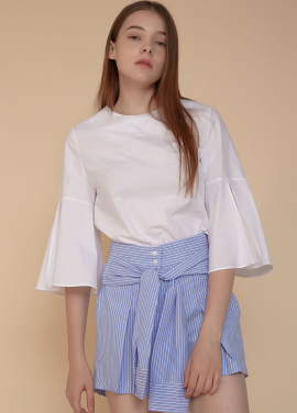 [ADDSENSE/50%SALE] PURE BLOUSE_ WHITE