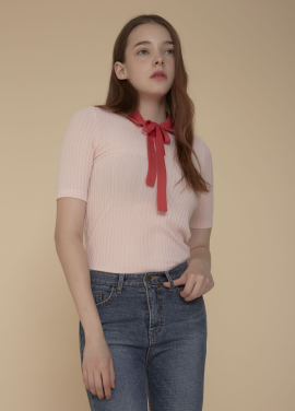 [ADDSENSE/50%SALE] SHINE RIBBON T SHIRT_PINK