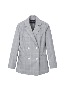 Slim Fit Check Pattern Jacket