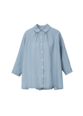 ★ Linen Back Side Button Blouse