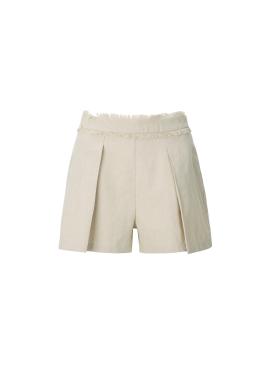 [60%할인★]Linen Blend Fringe Short Pants