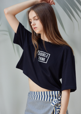 [ANEDIT/20%SALE]D CROP TSHIRTS_BK
