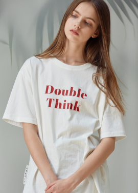 [ANEDIT/20%SALE]D THINK TSHIRTS_WH