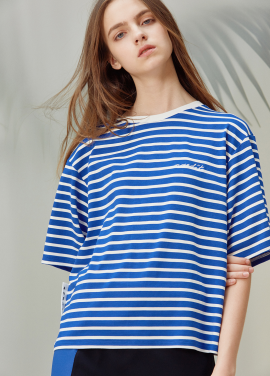 [ANEDIT/20%SALE]D STRIPE TSHIRTS_BL