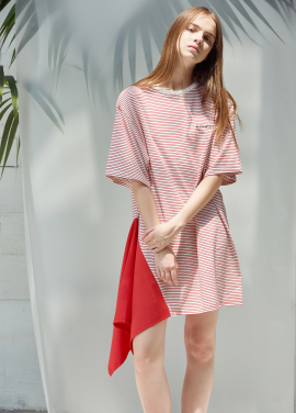[ANEDIT/20%SALE]D STRIPE DRESS_RE