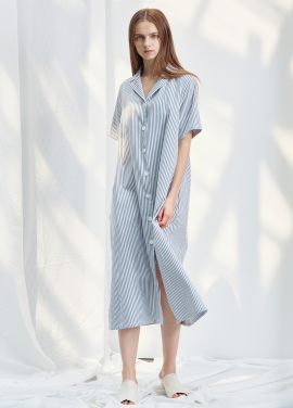 [ANEDIT/20%SALE/8월17일예약배송]D STRIPE SHIRTS DRESS_GB
