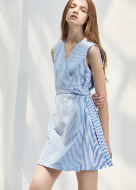 [ANEDIT/20%SALE/8월17일예약배송]D WRAP DRESS_SB