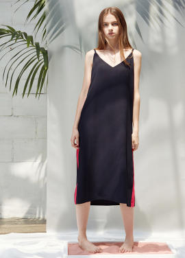 [ANEDIT/20%SALE]D LINE SLIP DRESS_BK