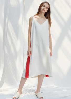 [ANEDIT/20%SALE]D LINE SLIP DRESS_WH