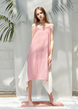 [ANEDIT/20%SALE]D STRIPE SLIP DRESS_RD