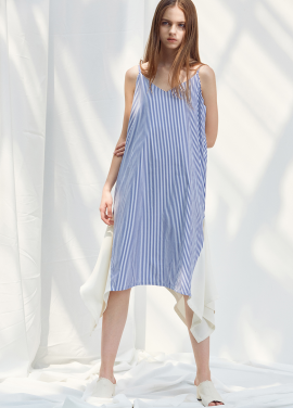 [ANEDIT/20%SALE]D STRIPE SLIP DRESS_BL