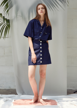 [ANEDIT/20%SALE]D BUTTON SKIRT_NV