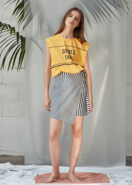 [ANEDIT/20%SALE]D WRAP MINISKIRT_NV