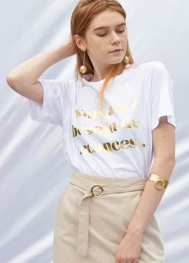 [SALON DE YOHN/20%SALE]Slogan T-Shirt_Gold