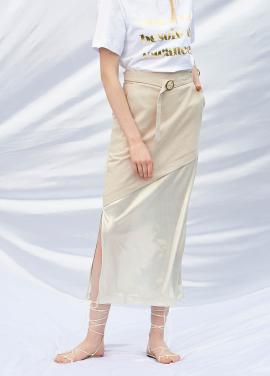 [SALON DE YOHN/20%SALE]Belted Long Skirt_Beige