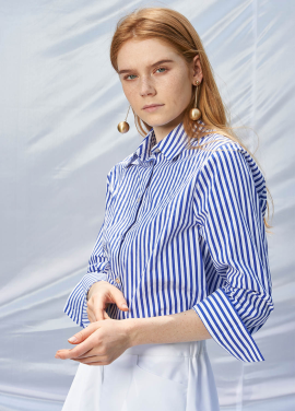 [SALON DE YOHN/20%SALE]Stripe Cotton Shirt