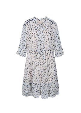 ◆ Flower Patterned See-Through Dress