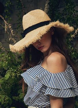 [LAFETE]Black Wave Hat No.3