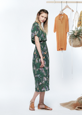[URAGO/15%기획SALE]flower antique long onepiece