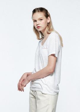[URAGO]typo linen round t-shirt