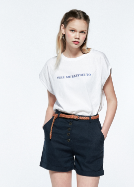lettering wide t-shirt