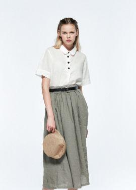 [URAGO/15%기획SALE]soft linen blouse