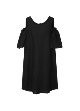 Linen Blend Off-Shoulder Dress [추자현 착용]
