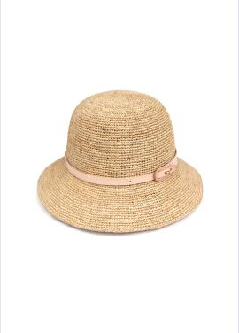 [WHITE SANDS/신상20%SALE] RAFFIA CLOCHET HAT BEIGE WS17-246ENBG