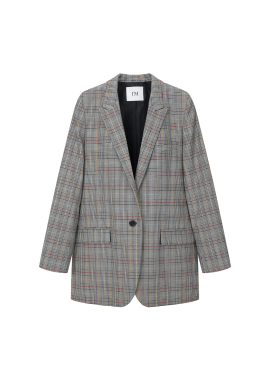 ◆ Mixed Check Pattern Jacket