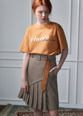 [CLUE DE CLARE]lettering T-shirt yellow