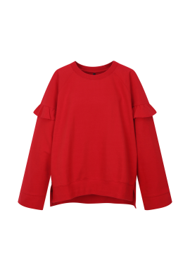 Sleeve Ruffle Detail Sweatshirts