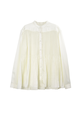 [SURREALBUTNICE] PLEATS SHIRTS IVORY