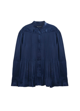 [SURREALBUTNICE] PLEATS SHIRTS NAVY