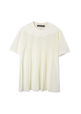 [SURREALBUTNICE] PLEATS TOP IVORY