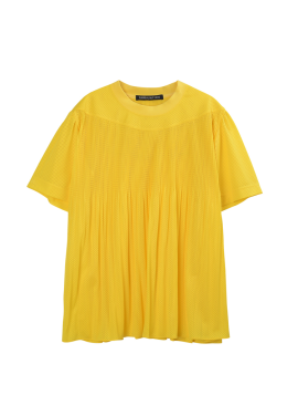 [SURREALBUTNICE] PLEATS TOP YELLOW