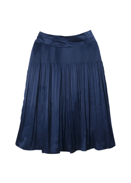 [SURREALBUTNICE] PLEATS SKIRT NAVY