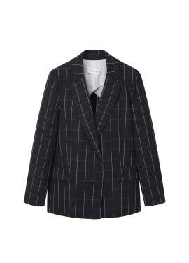 ♠ Check Hidden Button Jacket [신혜선 착용]