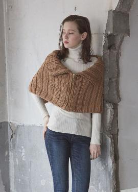 [JUST IN STYLE/시즌오프/50%+10%쿠폰] zipper knit CAPE