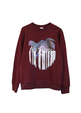 [시즌오프 30%] EMBRODERIE SWEAT BURGUNDY