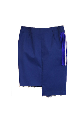 [시즌오프 30%] SLIM SKIRT BLUE