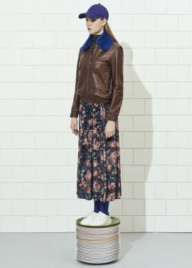 Velvet Flower Patterned Skirt