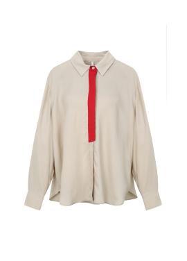 Rayon Tie Colorblock Blouse
