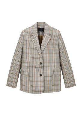Brown Check Patterned Jacket [정은지/혜리/조보아/김예원 착용]