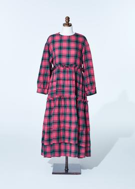[NEW/AMELIE] kang kang dress_pink_tartan check