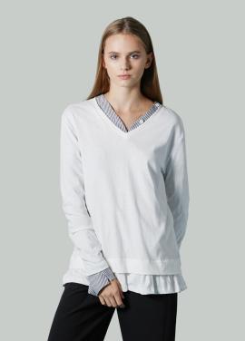 [저스트인스타일 / 단독특가 40%] 헴 라인 프릴 티셔츠
