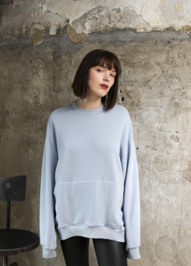 [PINBLACK]soft coccon sweat shirt blue